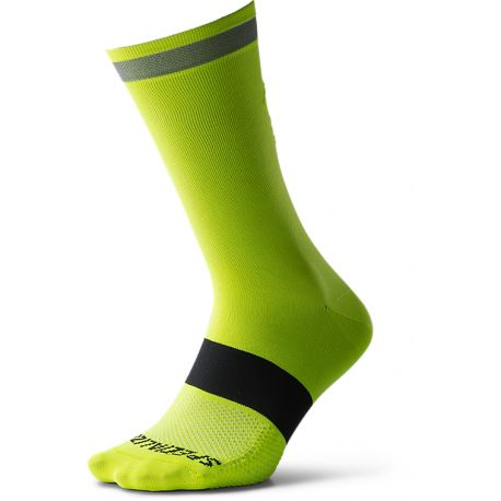 REFLECT TALL SOCK NEON YEL M